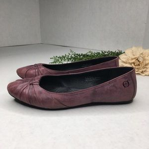 Born Liddy in Burgundy Leather Flats Size 7.5M